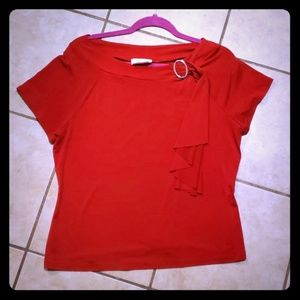Byer California Tops - Red Dress Top